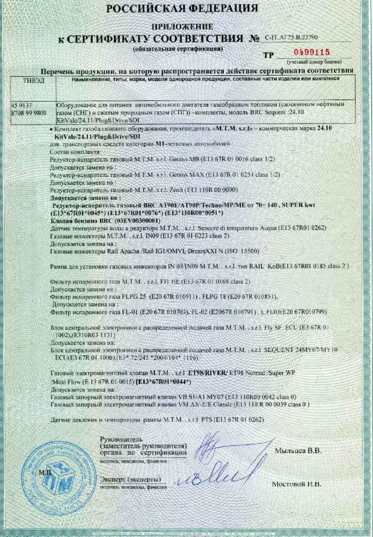 сигнализатор давления газовый сертификат соответствия